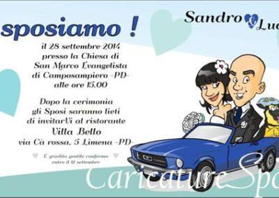 beautiful-wedding-invito-auto-mustang-caricatura_valentino-villanova-400x284 Partecipazioni nuziali con caricatura