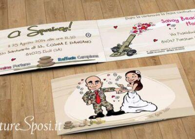 beautiful-wedding-invito-militare-romantic-caricatura_valentino-villanova-400x284 Partecipazioni nuziali con caricatura