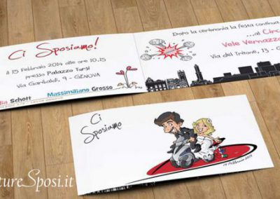 beautiful-wedding-invito-quad-moto-caricatura_valentino-villanova-400x284 Partecipazioni nuziali con caricatura