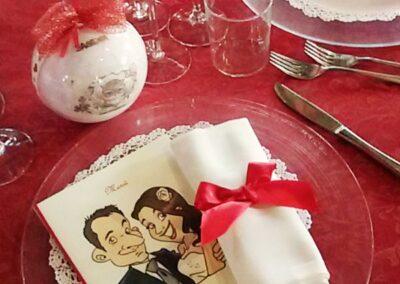 caricatura-sposi-menu-personalizzato_valentino-villanova-400x284 Partecipazioni nuziali con caricatura