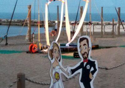 sagome-personalizzate-caricatura-sposi_valentino-villanova-400x284 Partecipazioni nuziali con caricatura