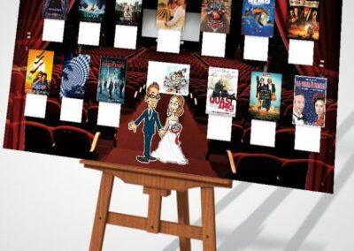 tableau-mariage-personalizzato-sposi-cinema-film-movie_valentino-villanova-400x284 Partecipazioni nuziali con caricatura