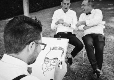 valentino-villanova-caricature-intrattenimento-coppia-risata-matrimonio-400x284 Caricature al Matrimonio