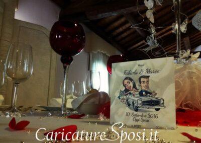 valentino-villanova-menu-di-nozze-auto.wedding-caricatura-400x284 Partecipazioni nuziali con caricatura