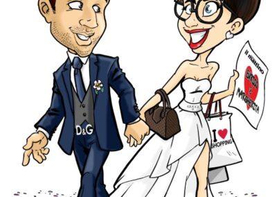 caricatura-sposi-elegante-romantico-bacio-matrimonio-personalizzata_valentino-villanova-400x284 Caricature degli sposi da foto