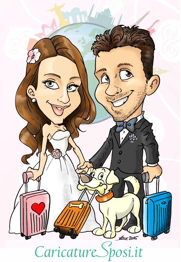 Caricature sposi idee per un matrimonio originale for Degli sposi