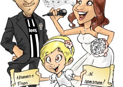 caricatura-sposi-juve-cantante-personalizzata_valentino-villanova-400x284 Caricature degli sposi da foto