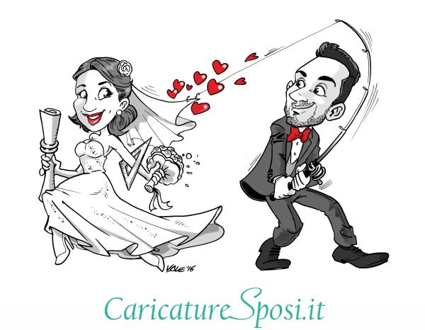 Caricature da foto matrimonio caricature sposi for Disegno sposi