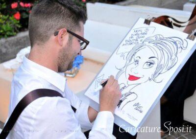 valentino-villanova-caricature-intrattenimento-coppia-ragazza-garda-matrimonio-400x284 Caricature al Matrimonio