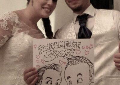 valentino-villanova-caricature-intrattenimento-coppia-sposi-villa-matrimonio-400x284 Caricature al Matrimonio