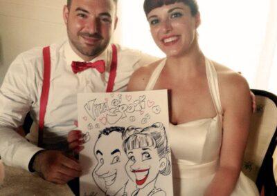 valentino-villanova-caricature-intrattenimento-coppia-vignetta-sposi-rock-matrimonio-400x284 Caricature al Matrimonio