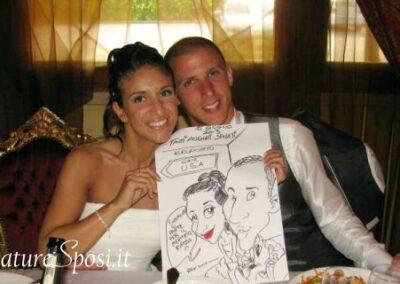 valentino-villanova-caricature-intrattenimento-coppia-villa-amici-matrimonio-400x284 Caricature al Matrimonio