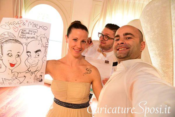 valentino-villanova-caricature-intrattenimento-happy-sorriso-risata-sposi-villa Caricature al Matrimonio